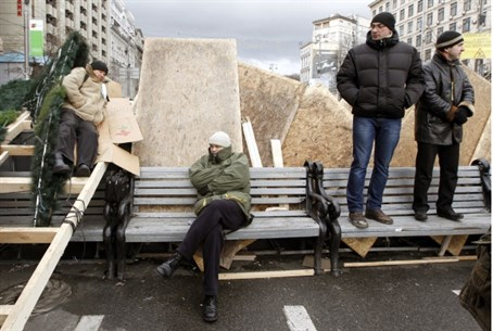 Manning the barricades in Kiev