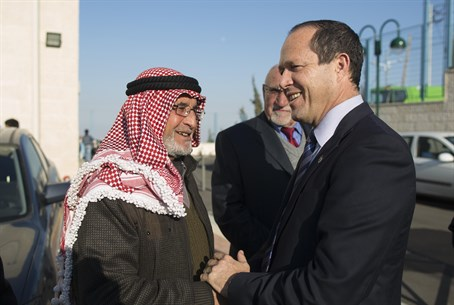 Nir Barkat with Arab residents of Jerusalem