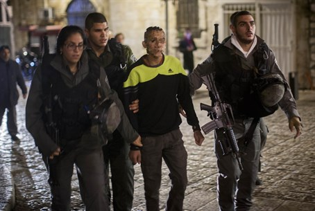 Arab suspect in Old City stabbing (file)