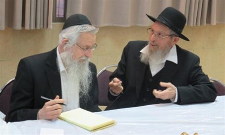 Rabbis Melamed (L) and Ariel.