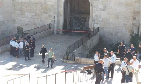Site of the Damascus Gate attack
