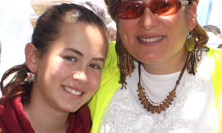 Hallel, pictured with her mother,