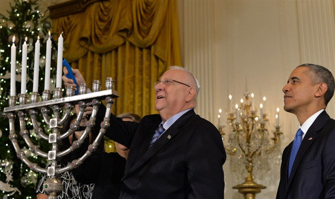 Obama at White House Hanukkah party