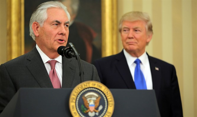 Rex Tillerson with President Trump