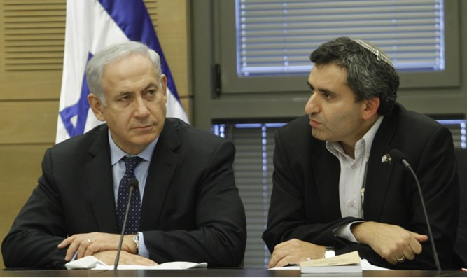 Elkin (right) with Netanyahu