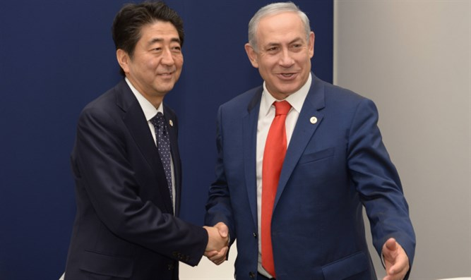 PM Netanyahu with Japanese PM Shinzo Abe