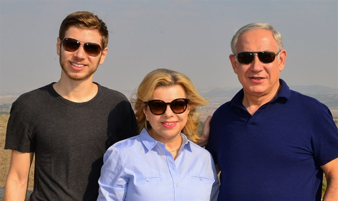 PM Netanyahu with wife Sara and son Yair