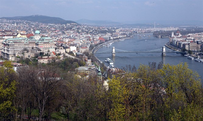 Budapest divided by Danube river