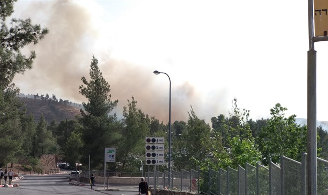 Fire in area of Even Sapir