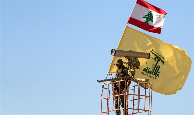 Hezbollah terrorist on watch tower