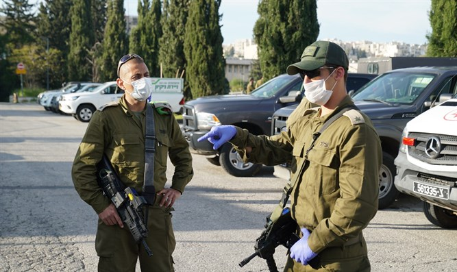 IDF soldiers during coronavirus crisis