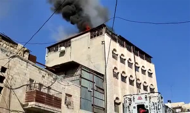 fire at Rama yeshiva in Jerusalem