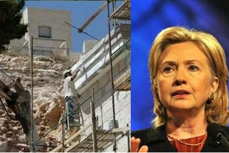 Clinton and building for Jews in Judea and Sa