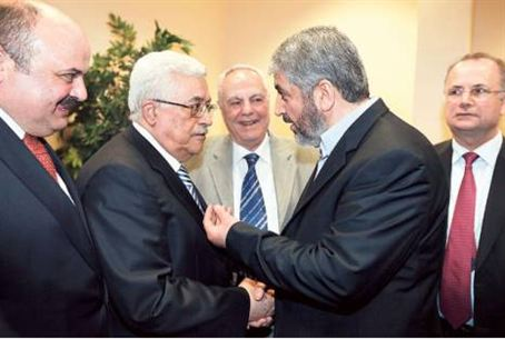 PA heads Haniyeh and Abbas