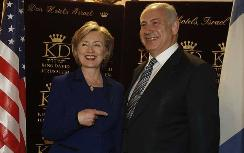 Hilary Clinton and Binyamin Netanyahu