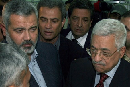 Abbas with Ismail Haniyeh