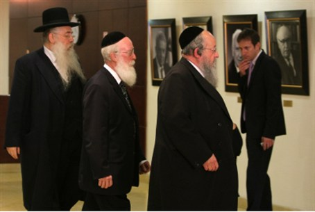 Members of United Torah Judaism faction.