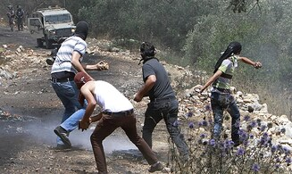 Arab rioters set fire outside Israeli town in Samaria