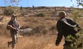 Watch: Jewish residents attack reporter with stones