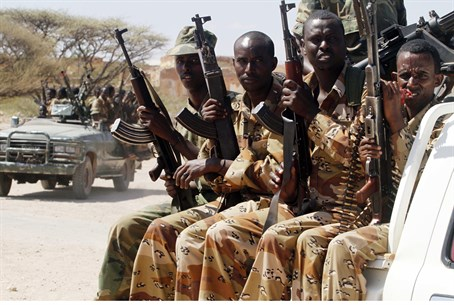 Somalian soldiers prepare for operations agai