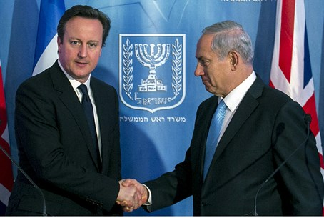 Binyamin Netanyahu and UK counterpart David C