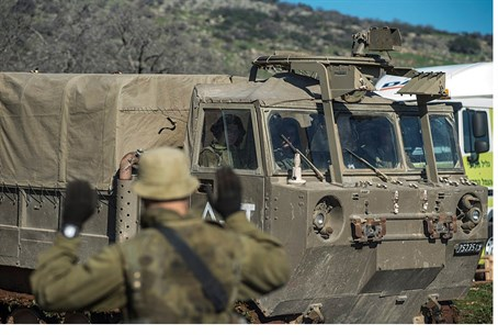 IDF forces seen reinforcing presence in the Golan Heights