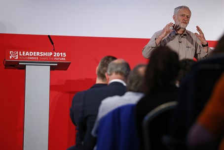 Jeremy Corbyn speaks at a Labour leadership hustings event