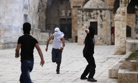 Violence outside Al Aqsa mosque`