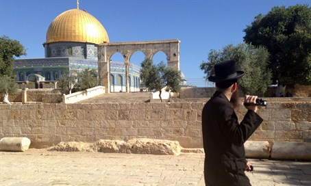 Jewish visitor on the Temple Mount