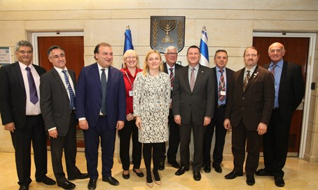 The European Parliament delegation at the Knesset Tuesday