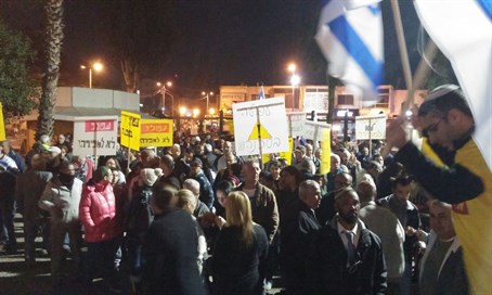 Afula protest against Arab takeover (file)