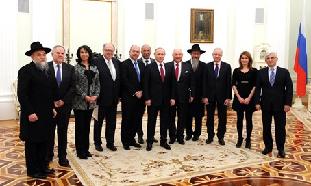 EJC delegation at a meeting with President Vladimir Putin in Moscow