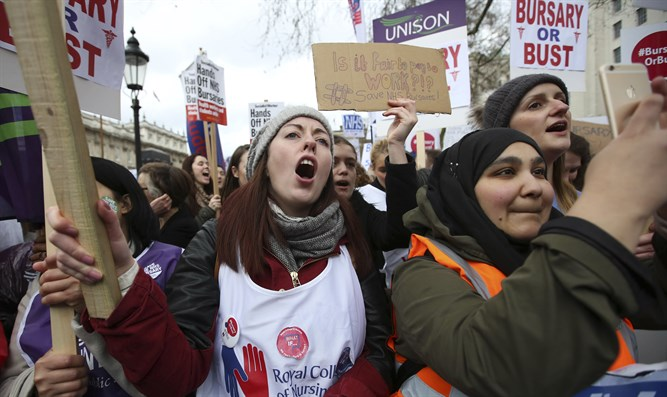 British student protest (file)