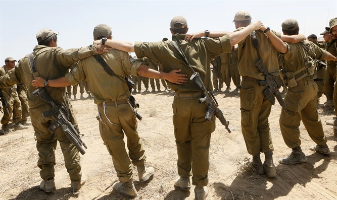 IDF soldiers outside Gaza