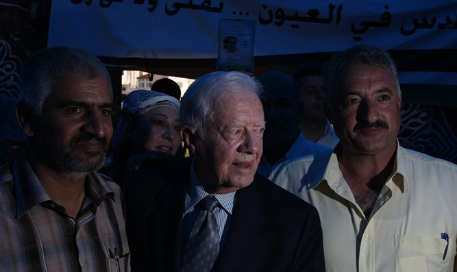 Former President of the United State of America, Jimmy Carter, visits at the Arab neighbor