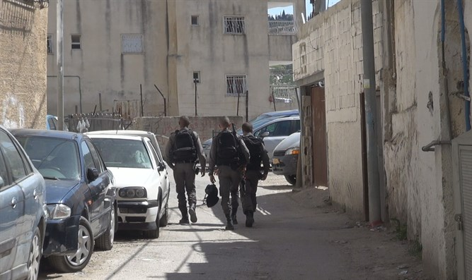 Border Police in Silwan