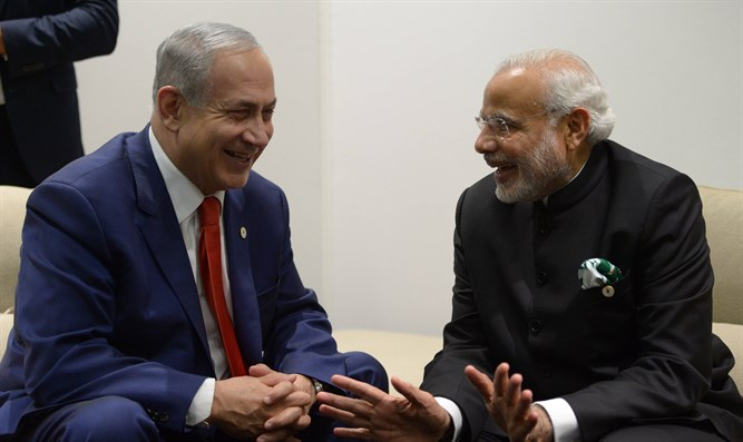 PM Netanyahu meets with Indian PM Modi