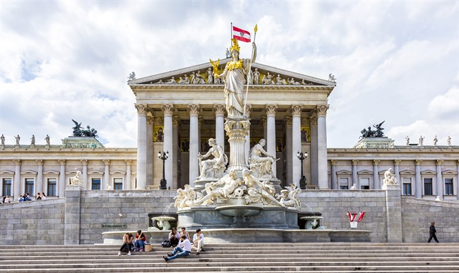 Austria's Parliament building in Vienna