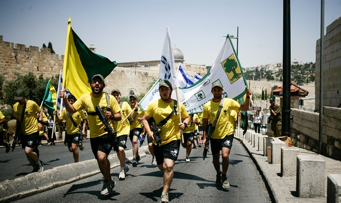 Golani soldiers on run from Hermon to Eilat