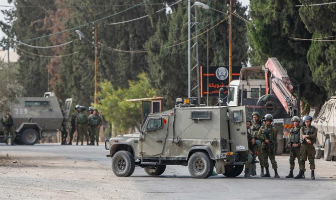 IDF forces in Shweika, hometown of Barkan terrorist