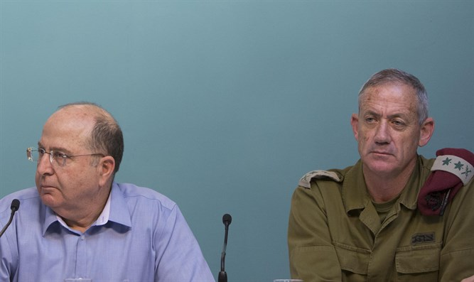 Gantz and Ya'alon (archive)