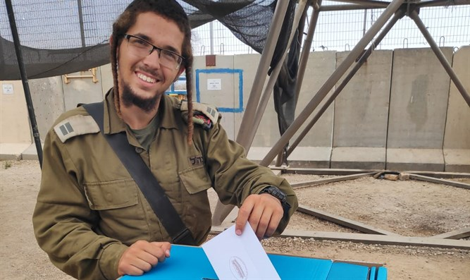 IDF officer casts vote
