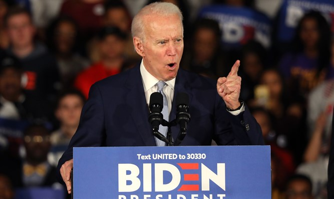 Joe Biden speaks to supporters after South Carolina victory