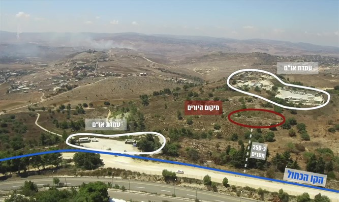 Area from which Hezbollah attempted to carry out attack