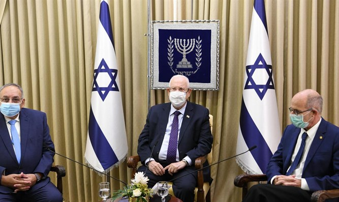 Rivlin with Prof. Rotstein and Merin